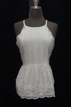 Esley White Cotton Top - Product List Image