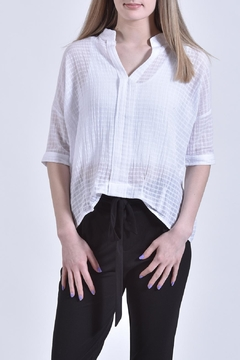 jane plus one White Cotton Top - Product List Image