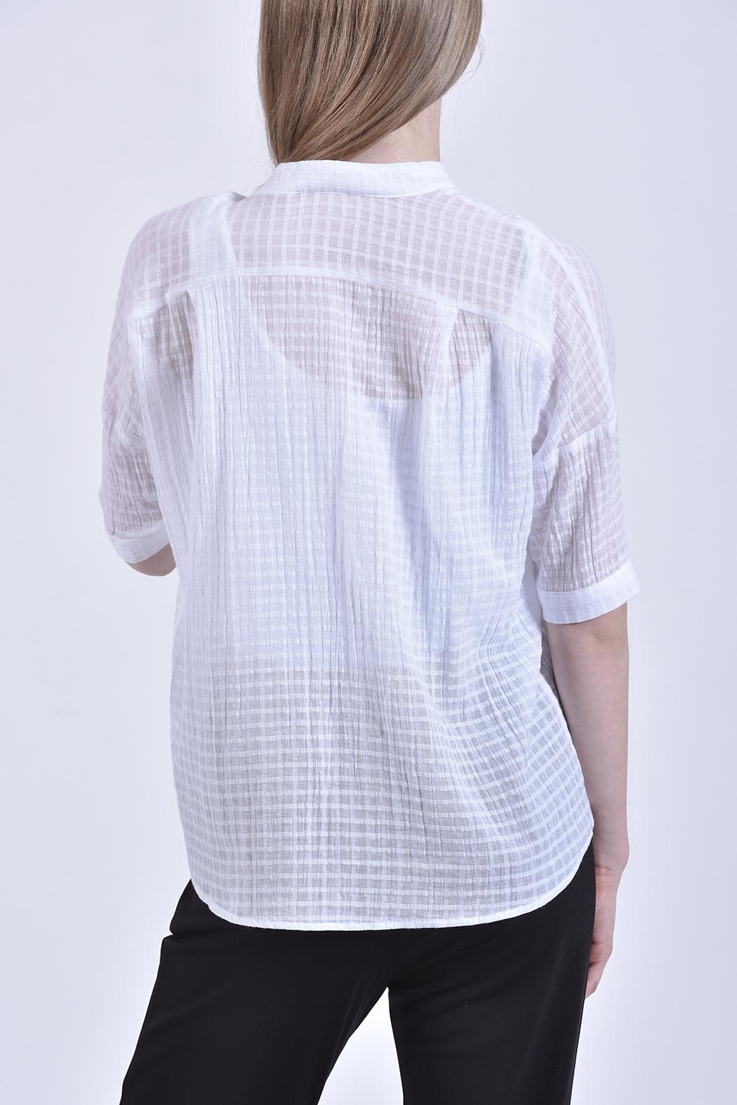 jane plus one White Cotton Top - Front Full Image