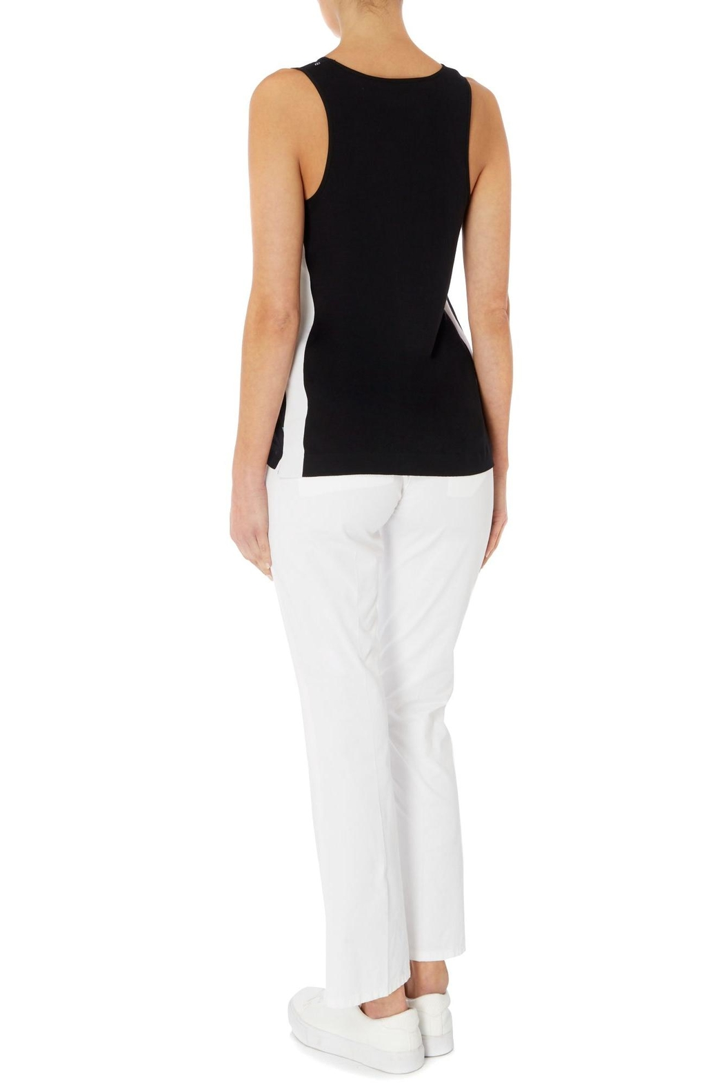 Sportmax White Cotton Trousers - Front Full Image