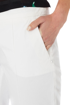Sportmax White Cotton Trousers - Alternate List Image
