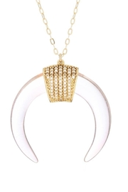 Viviana d Otanon jewelry White Crescent Moon - Front cropped