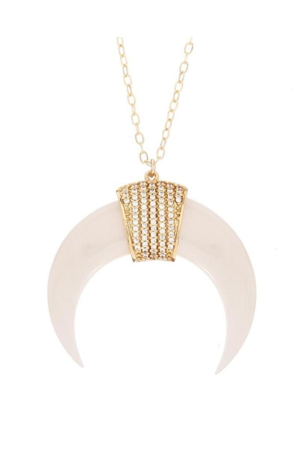 Viviana d Otanon jewelry White Crescent Moon - Main Image