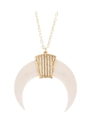 Viviana d Otanon jewelry White Crescent Moon - Product Mini Image