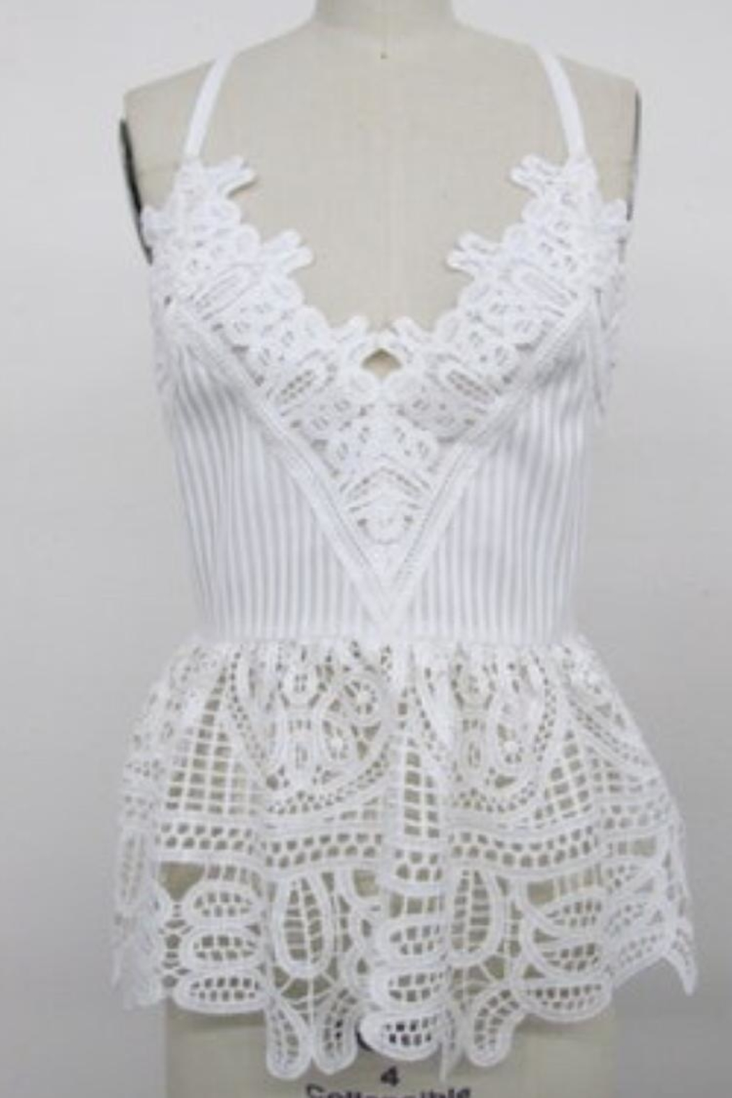 Endless Rose White Crochet Top - Main Image