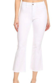 Hammer Jeans White Crop Flare jeans - Front cropped