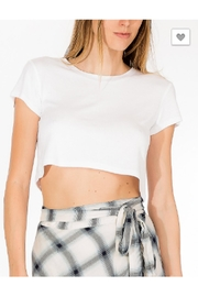 Olivaceous White Crop Top - Product Mini Image