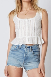 Cotton Candy LA White Crop Top - Product Mini Image