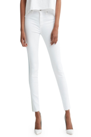 Bianco Jeans White Cropped Skinny Denim - Product Mini Image
