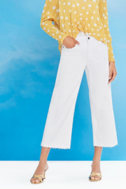 Charlie B White Cropped Wide Denim - Front cropped