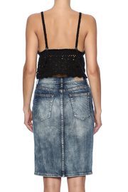 White Crow Crochet Crop Top - Back cropped