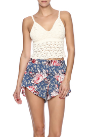 White Crow Crochet Crop Top - Front cropped