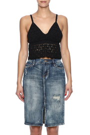 White Crow Crochet Crop Top - Side cropped