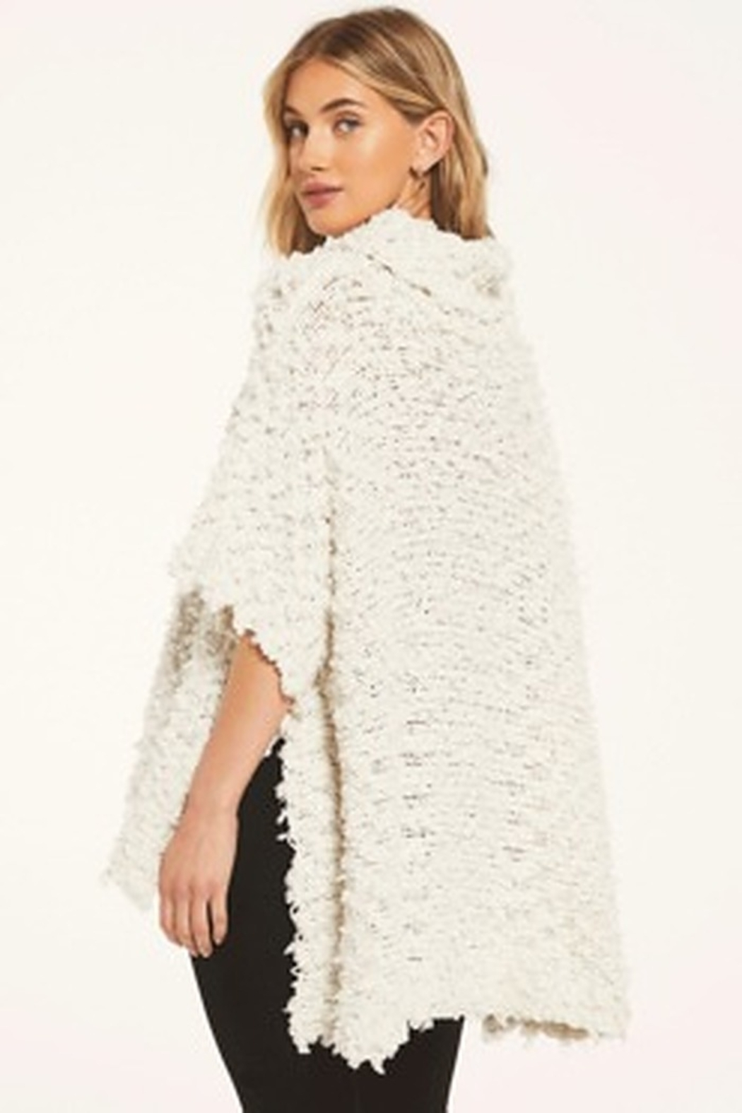 z supply White Crow Eunice Sweater-Cloud Dancer - Front Full Image