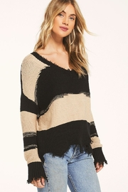 z supply White Crow Hope Sweater Tan - Back cropped