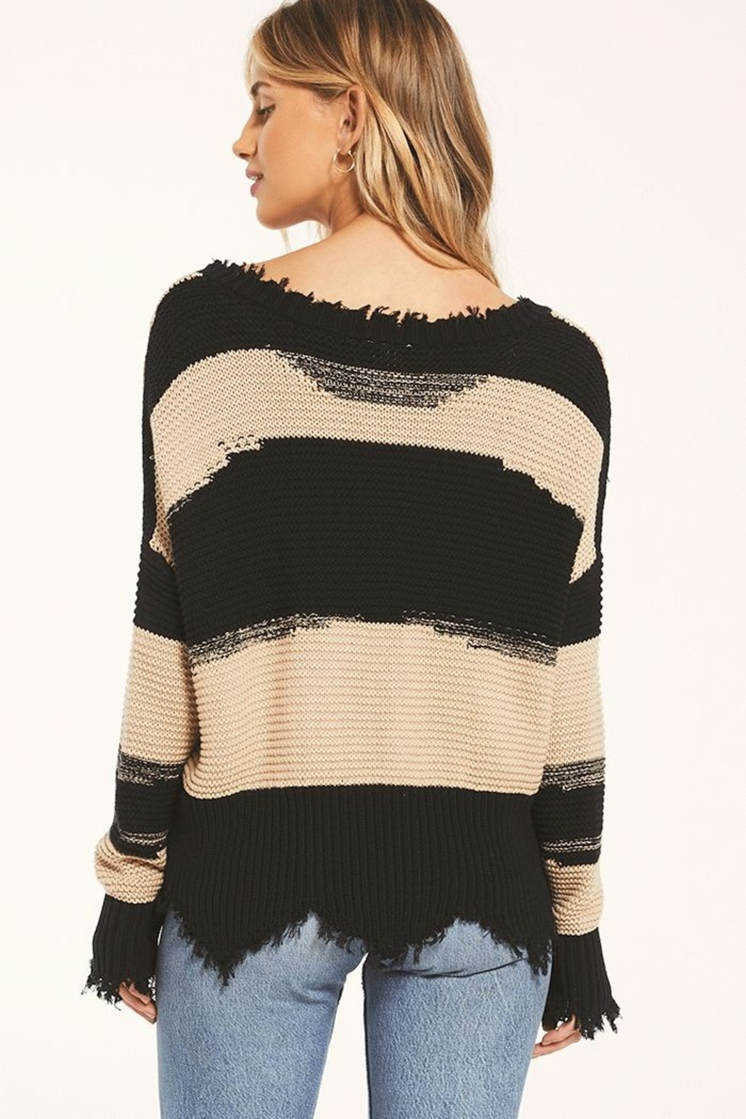 z supply White Crow Hope Sweater Tan - Front Full Image