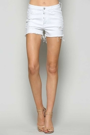 Vervet White Cutoff Shorts - Product Mini Image