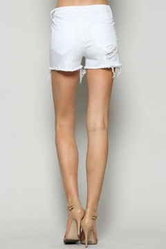 Vervet White Cutoff Shorts - Alternate List Image