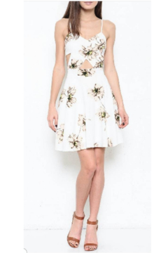 Shoptiques Product: White Cutout Floral Dress