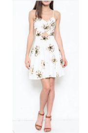 L'atiste White Cutout Floral Dress - Product Mini Image