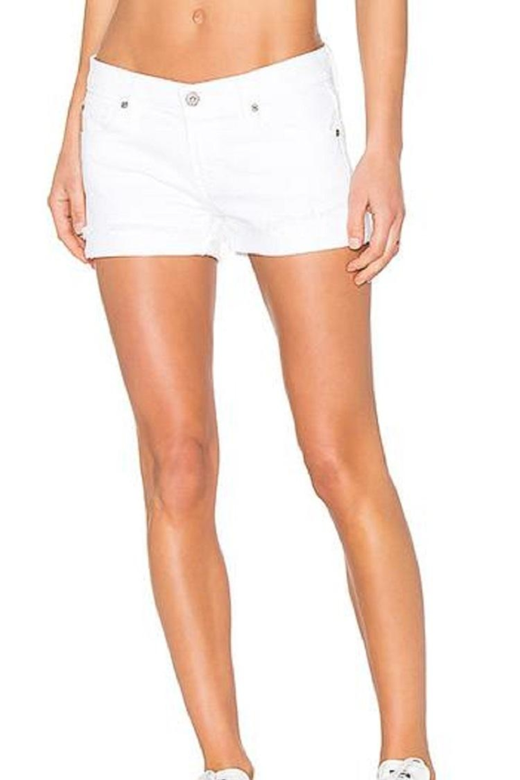 James Jeans White Cuttoff Shorts - Main Image