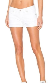 James Jeans White Cuttoff Shorts - Front cropped