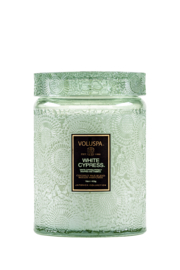 Voluspa White Cypress Large Jar Candle - Product Mini Image