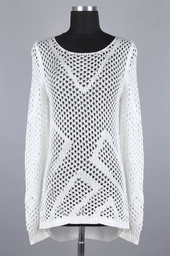 MAK White Danity Sweater - Product List Image