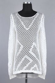 MAK White Danity Sweater - Product Mini Image