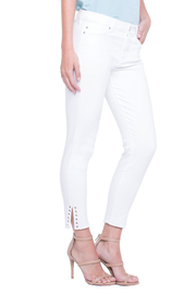 Liverpool White Denim Ankle-pant - Front cropped