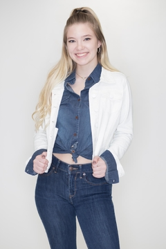 C'Est Toi White Denim Jacket - Product List Image