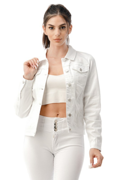 Nina Rossi White Denim Jacket - Product List Image