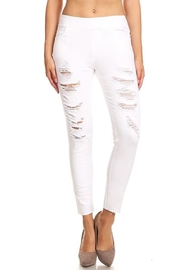 Color 5 White Denim Jeggings - Product Mini Image