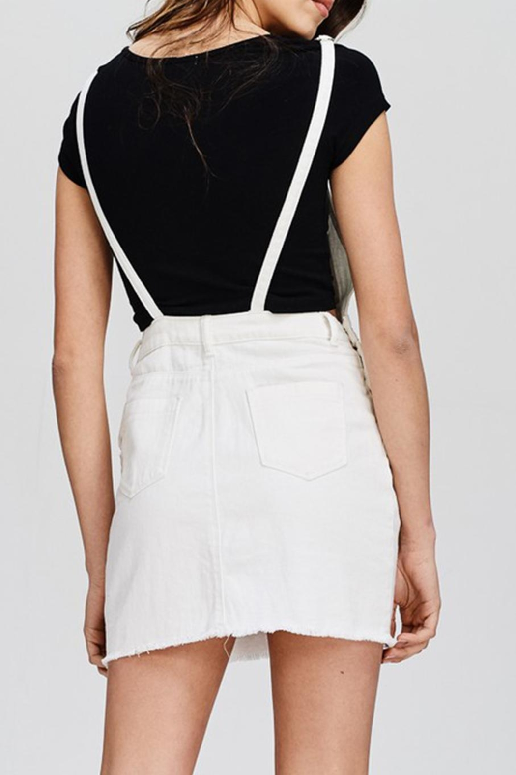 Emory Park White Denim Overall - Side Cropped Image