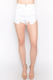 Signature 8 White Denim Shorts - Product Mini Image