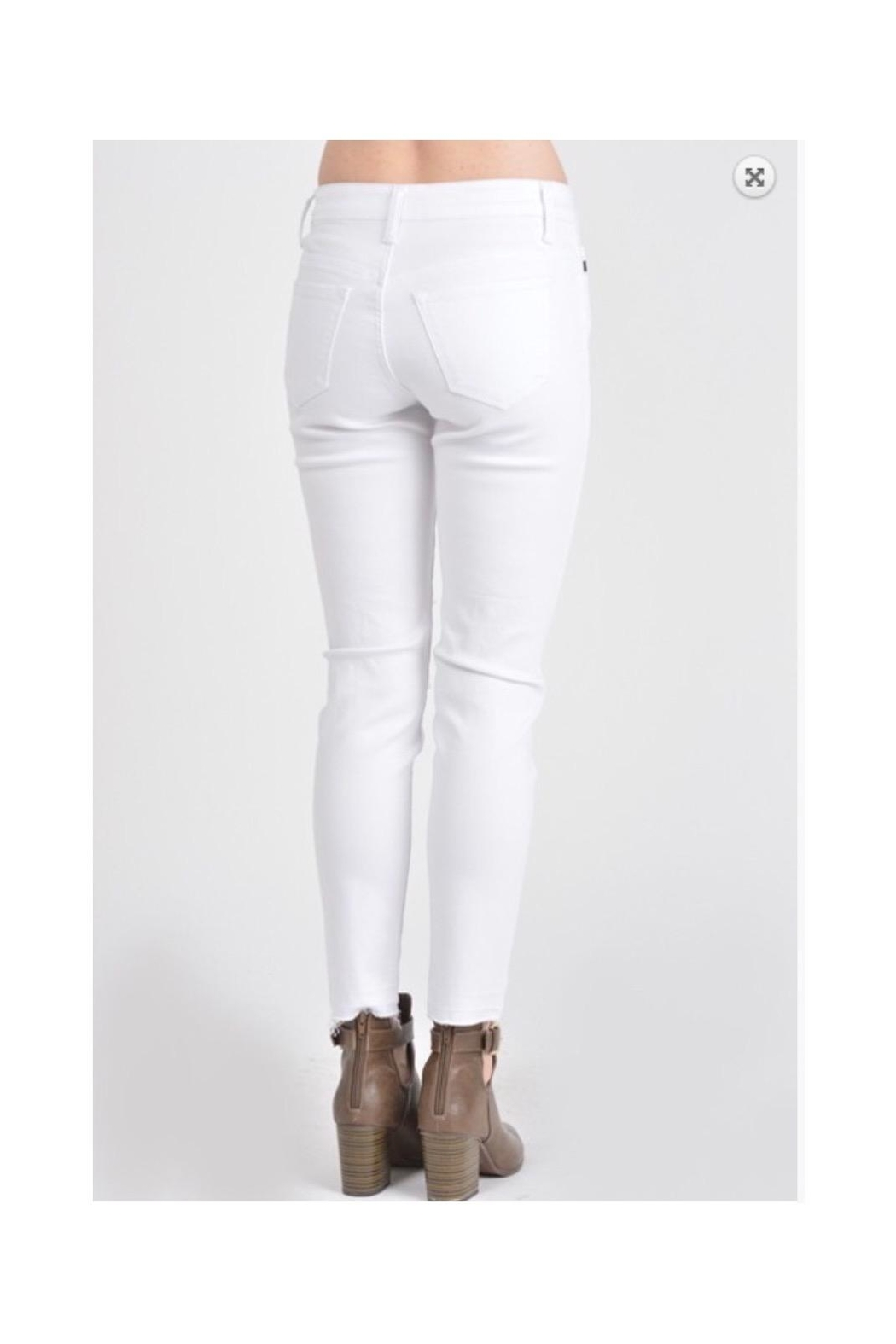 KanCan White Distressed Jeans - Back Cropped Image