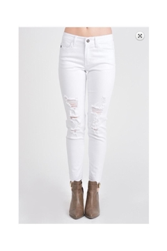 KanCan White Distressed Jeans - Product List Image