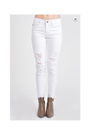 KanCan White Distressed Jeans - Front cropped
