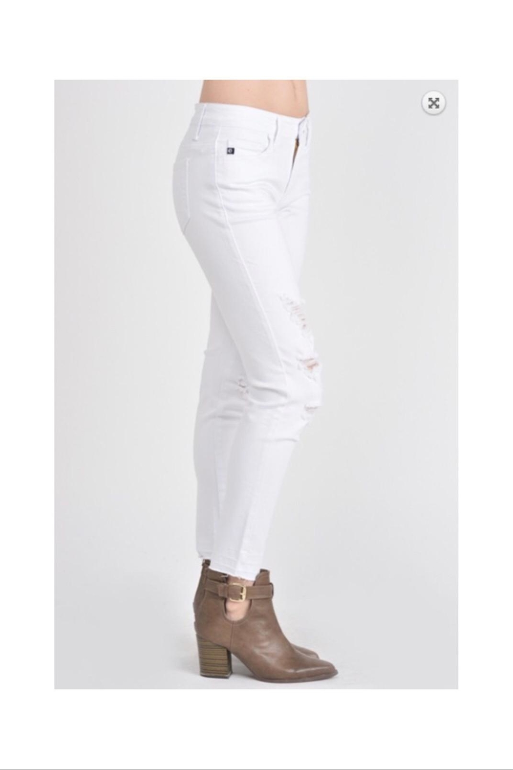 KanCan White Distressed Jeans - Side Cropped Image