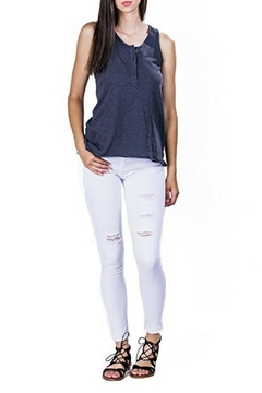 Shoptiques Product: White Distressed Skinny