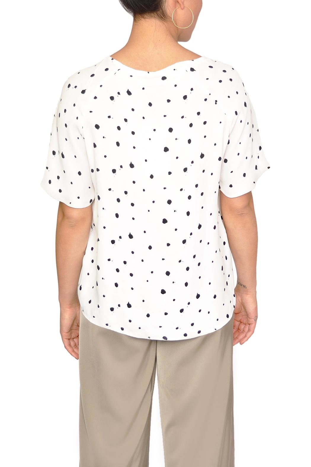 Just Female White Dot Blouse - Side Cropped Image
