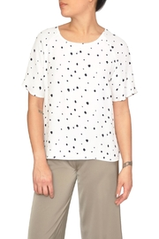Just Female White Dot Blouse - Front cropped