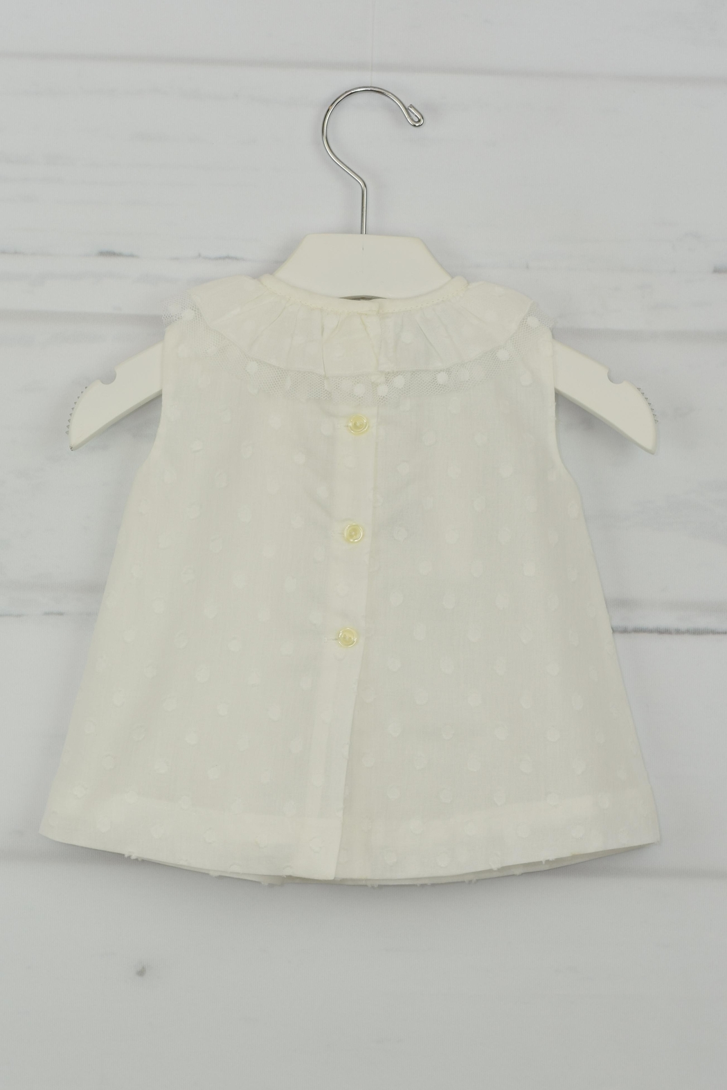 Granlei 1980 White Dot Dress - Front Full Image