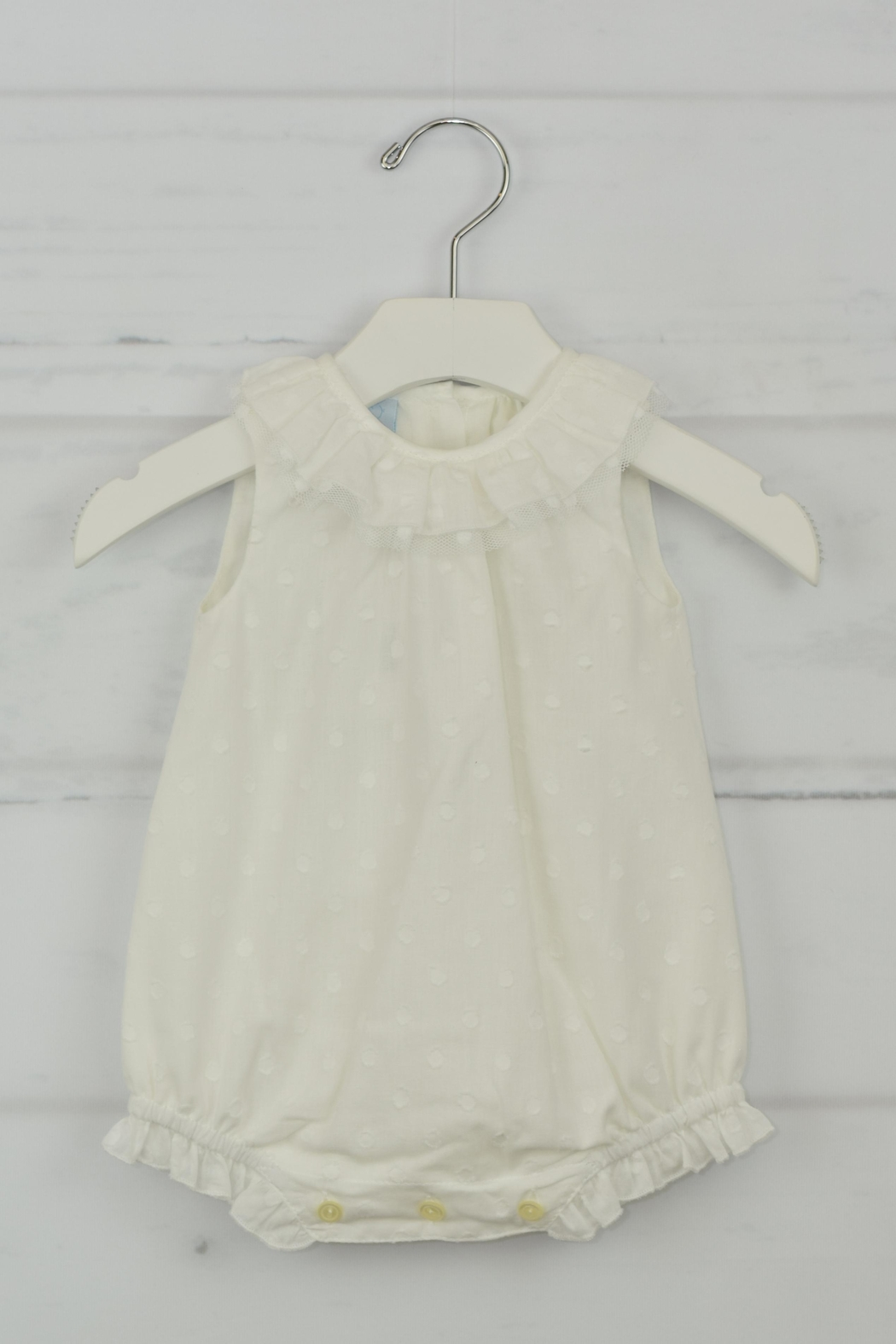 Granlei 1980 White Dots Onesie - Front Cropped Image