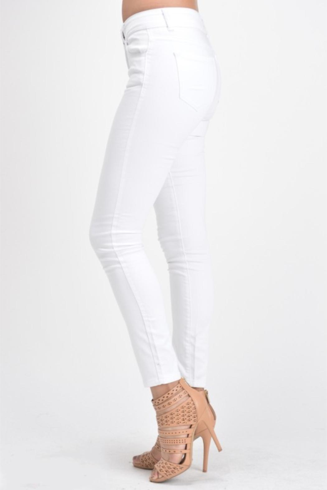 KanCan White Double-Button Denim - Side Cropped Image
