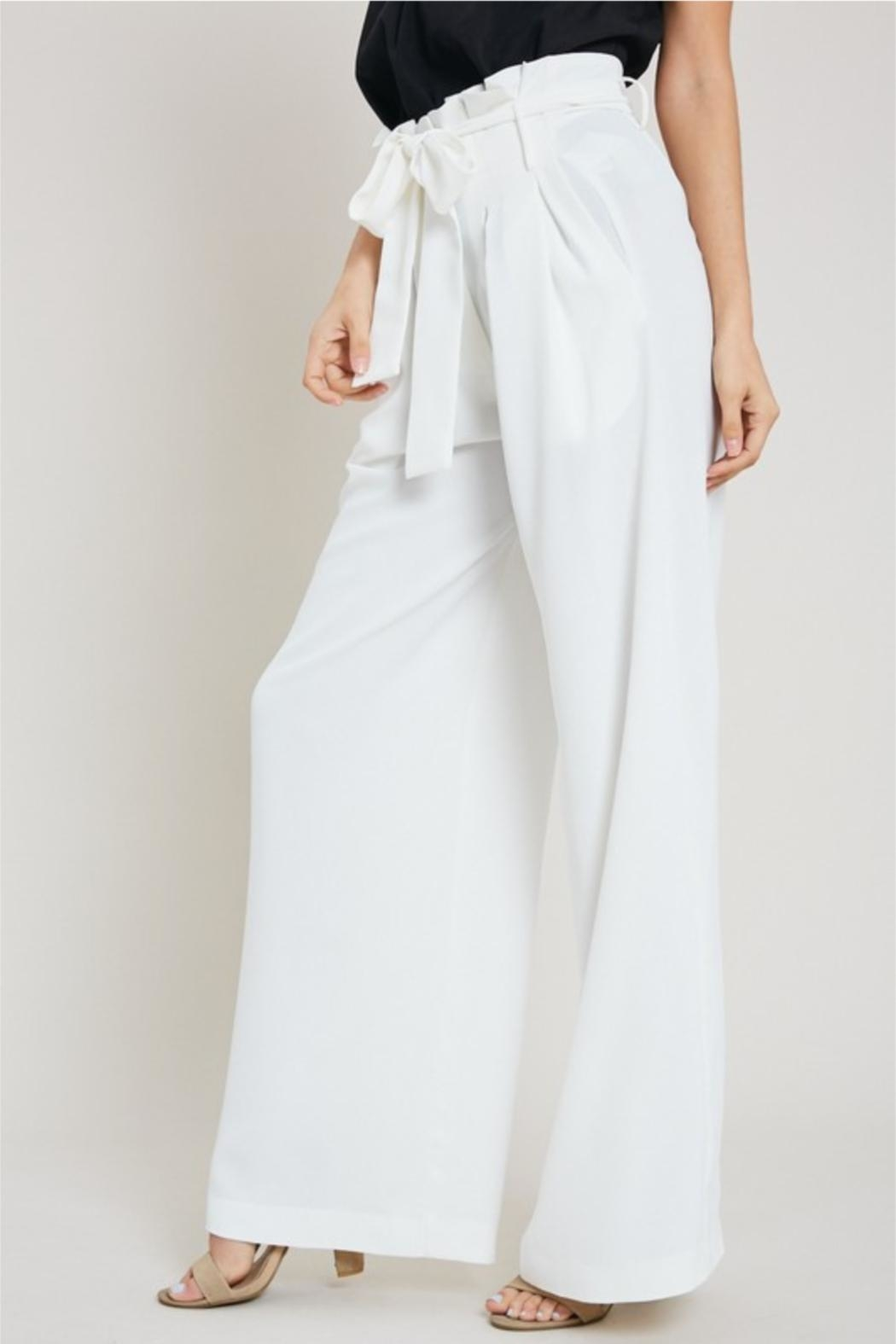 eesome White Dress Pants - Side Cropped Image