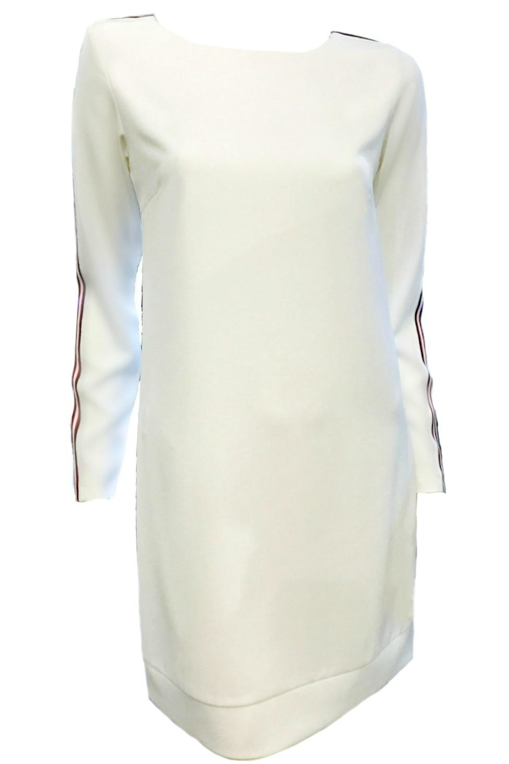 Maryley White Dress Stripes - Front Cropped Image