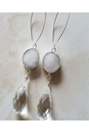 Alissa B White Druzy Drop Sterling Silver - Product Mini Image