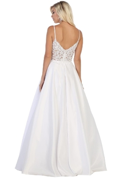 May Queen  White Embellished Lace Bridal Ball Gown - Alternate List Image