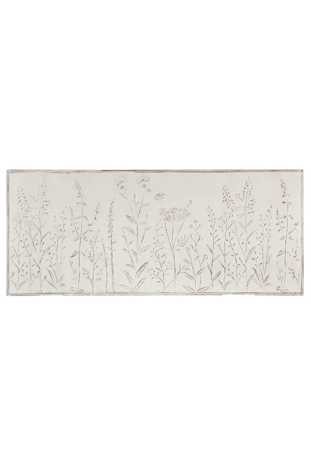 Ganz White Embossed Floral Wall Hanging - Main Image